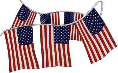 USA Flag Pennant Strings