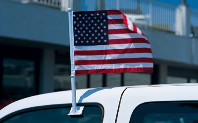 U.S.A. Car Flags